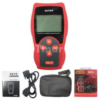 S610 OBD2 EOBD2 K + CAN Scanner Car Diagnostic Tool (Red)   Tmart