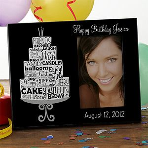 Personalized Birthday Picture Frames   Birthday Cake   10846