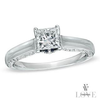 Vera Wang LOVE Collection 1 1/8 CT. T.W. Princess Cut Diamond