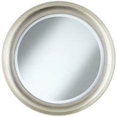 Antwerp Concave Frame 29 1/2 Round Silver Wall Mirror