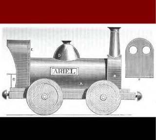Antique Victorian steam locomotive Toy Making Manual CD