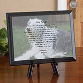 Celebrate the life of your dog or cat with personalized pet memorial