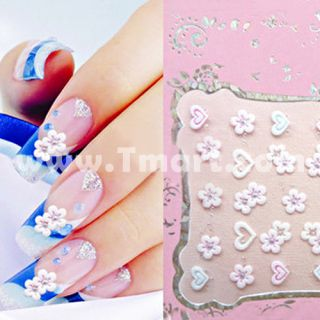 2D Lace Style Nail Art Stickers Decals NA03   Tmart