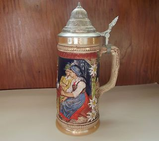 Newly listed Gerz, West German, Lidded Beer Stein