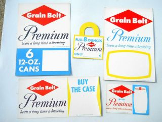 Grain Belt Beer Signs Cardboard Bottle Topper POS Minneapolis MN
