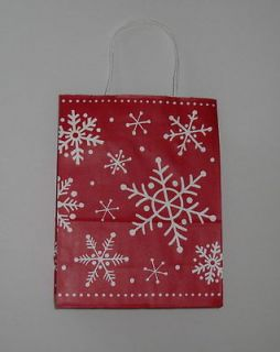 Snowflakes Gift Bags Christmas Holiday Wrap Paper Lot Xmas Wrapping 6