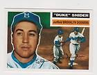 1995 TOPPS ARCHIVES BROOKLYN DODGERS 1956 WORLD CHAMPIONSHIP TEAM CARD