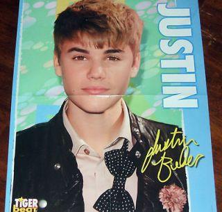 NEW   Justin Bieber Big Wall Poster b/w Selena Gomez Pulling Down Her