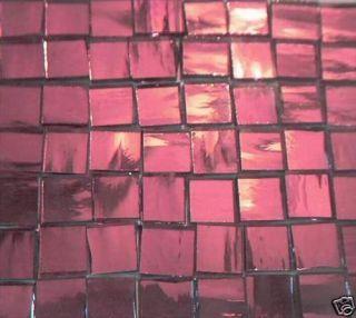 100 HANDCUT GLASS TILE PURPLE MIRRORS MOSAIC TILES ART