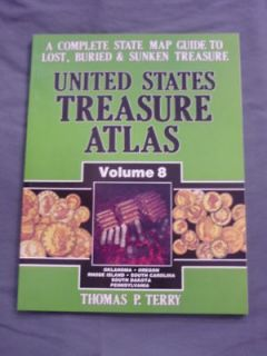 Treasure Atlas #8 Metal Detector Treasure Hunting Book Gold Mines