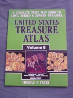 Treasure Atlas #8 Metal Detector Treasure Hunting Book Gold Mines