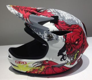 Giro Remedy Full Face Mountain Bike Helmet (Large, Matte White/Red
