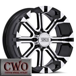 Black Status Cannon Wheels Rims 8x165.1 8 Lug Dodge Chevy GMC 2500 HD