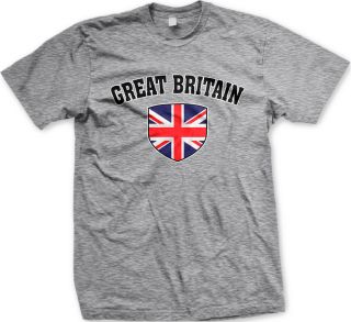 The Union Jack Flag Britain England Mens T shirt Olympic Games Soccer