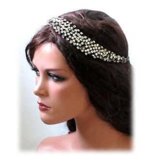 Grecian Athena rhinestone crystal BRIDAL HEADBAND,NECKLACE JEWELRY