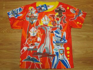 Ultraman Mebius Boy T Shirt #216 Red Size M age 4 6
