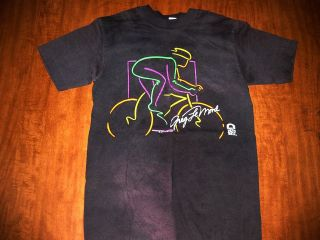 GREG LeMOND small T shirt neon dayglo Tour de France 1989 Taco Bell