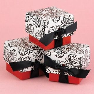 48 Personalized Damask Mint Tins Wedding Favor Boxes Favors