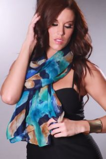 Blue Multi colored Gauze Light weight @ Amiclubwear scarf Online Store