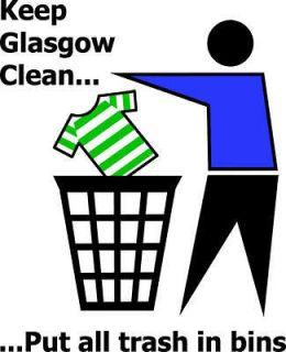 KEEP GLASGOW CLEAN funny football rangers t shirt