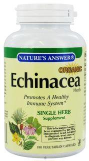Buy Natures Answer   Organic Echinacea Herb   180 Vegetarian Capsules