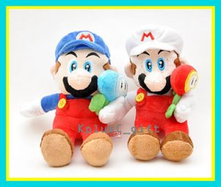 Super Mario Bros Plush Doll LMario 7  Ice & Fire