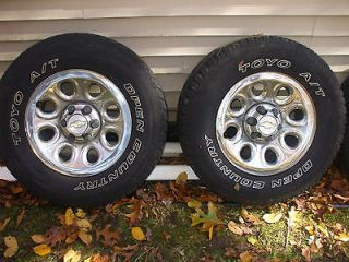 Chevy Truck pickup tires & rims 17in. 265/70/17 set of four off 4x4