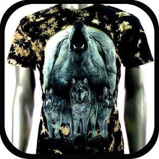 Rock Eagle T Shirt Biker Street Wolf Tattoo RE35 Sz M Indie mma Heavy