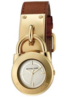 Michael Kors MK2191 Watches,Womens Champagne Dial Brown Leather