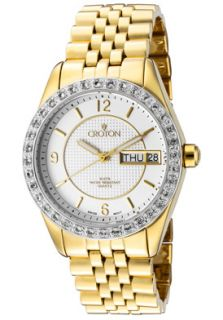 Croton CN207279YLSL Watches,Womens Gold Tone Stainless Steel, Topaz