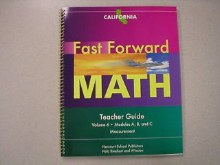 Math Teacher Guide Volume 6 California Harcourt ISBN 0153636939