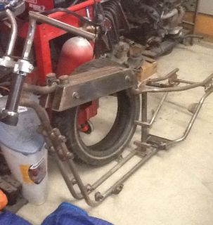 Custom Harley Frame Rat Rod Ironhead Sportster Drop Seat Bobber No