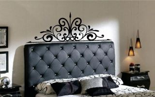 Iron Scroll Headboard Vinyl Wall Decal Decor Lettering