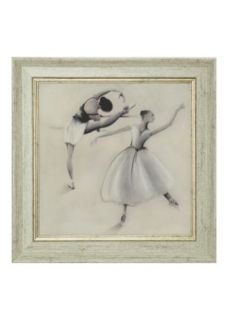 Matalan   Ballet Dancers Framed Wall Art 40cm x 40cm