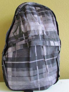 NWT Volcom Plaid Graphic Logo Multi function Laptop Backpack Black