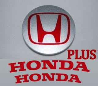 Honda H Center Cap + CALIPER Sticker Decal ANY COLOR CIVIC SI EX LX
