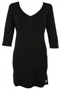Calvin Klein Womens Essentials with Satin Trim 3/4 Sleeve Night Dress