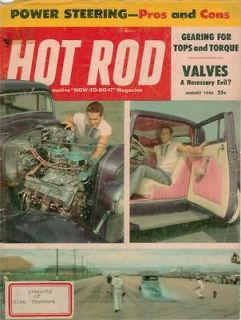 Hot Rod August 1956 Power Steering Pros and Cons Gearing Valves