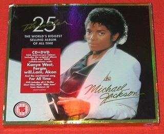 MICHAEL JACKSON CD/DVD   THRILLER   SPECIAL 25TH ANNIVERARY EDITION
