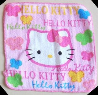 Hello Kitty Plush Hand Face Towel Design HK2 Sanrio Japanese Butterfly