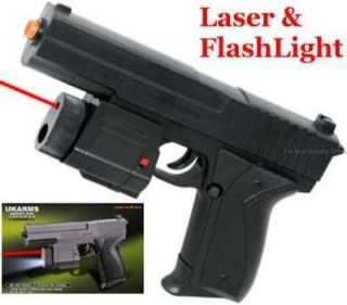 Spring Hand Gun Pistol Light Laser w/ 6mm bb sniper rifle shotgun