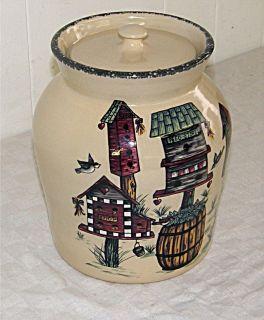 2004 Home & Garden Party Ltd Crock Cookie Jar Made in USA Nice
