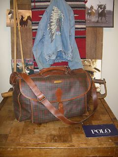 POLO RALPH LAUREN VINTAGE XLG LUGGAGE BAG AMAZING VERY RARE color