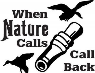 Nature Calls Duck Hunting Decal 6x6