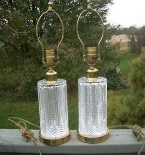Newly listed 2 Vintage WATERFORD CRYSTAL LAMP LIGHT PAIR SET SIGNED