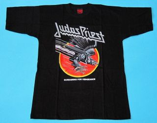 Judas Priest   Screaming For Vengeance T shirt size L NEW