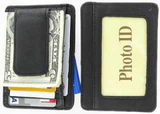 Mens Money Clip Front Pocket Wallet Card Case Billfold