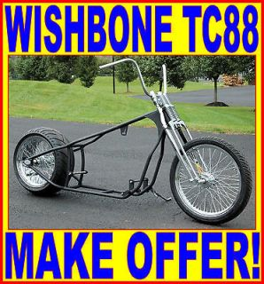 250 TIRE BOBBER CHOPPER RIGID HARDTAIL ROLLING CHASSIS HARLEY TWIN CAM