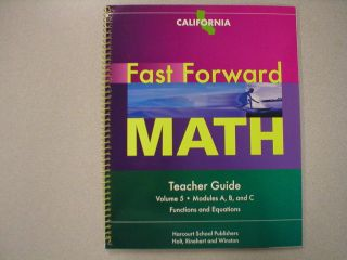 Math Teacher Guide Volume 5 California Harcourt ISBN 0153636920