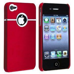 NEW RED HARD CASE COVER FOR APPLE IPHONE 4 4S 4G + Full Body